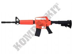 MR711 M16 Style Airsoft BB Gun Black and Orange